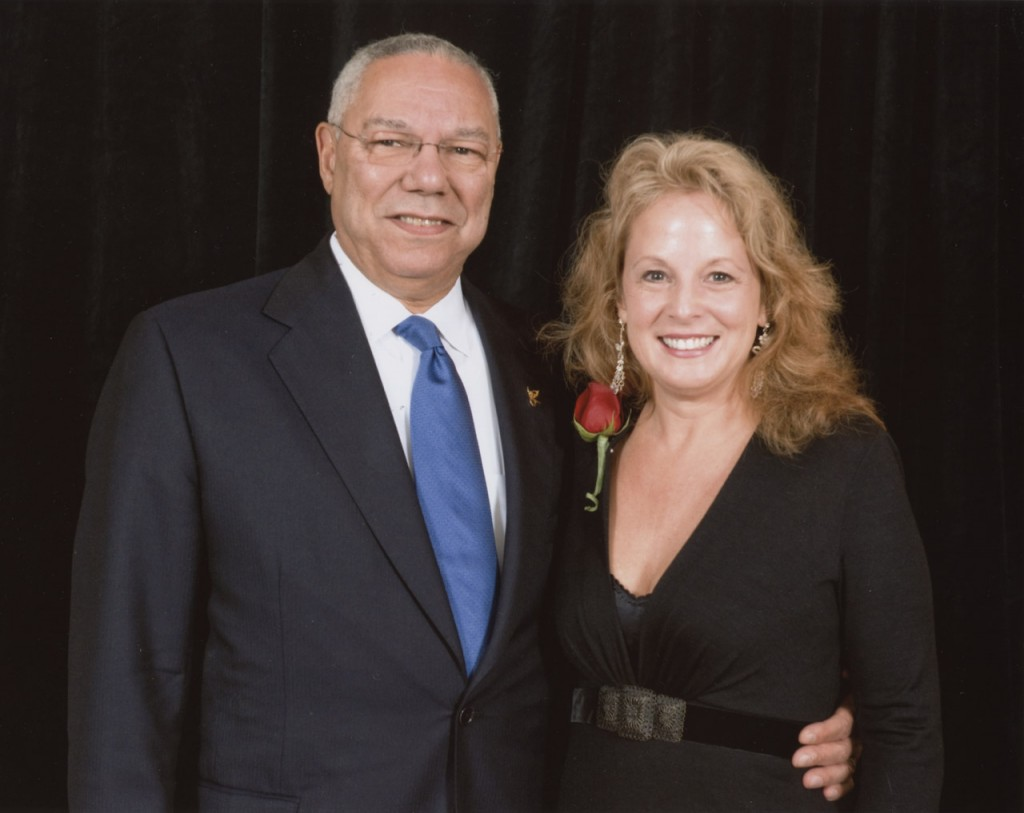 Paula Lucas and Colin Powell