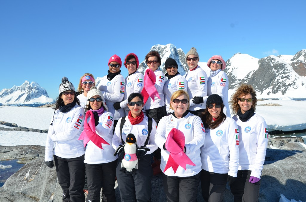 team of breast cancer survivors from the UAE did a trek to Antarctica with Mountain High