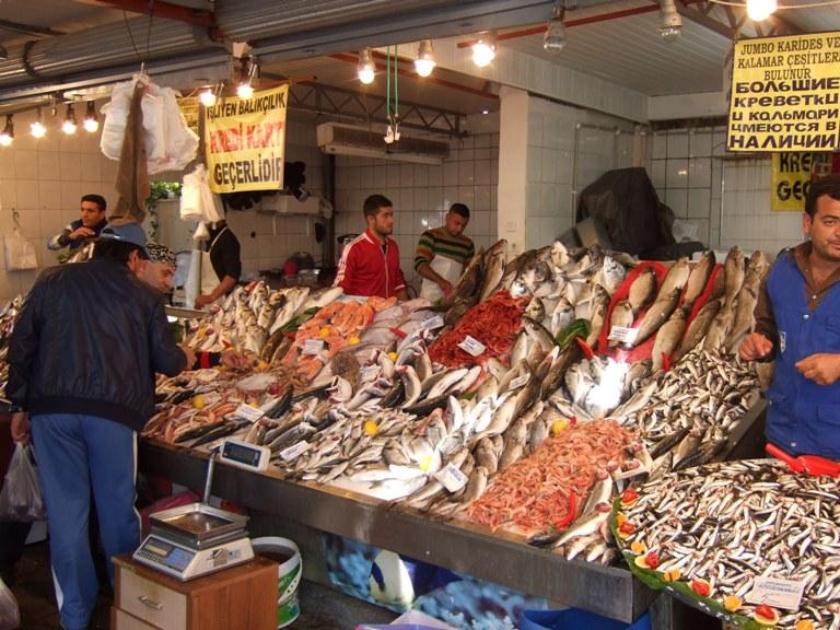 Kemer fish market