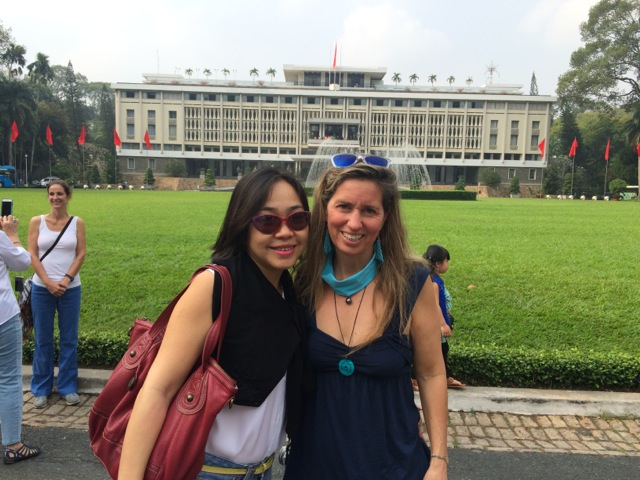 thuy vy and me at reunification palace